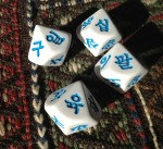 Korean Number Dice